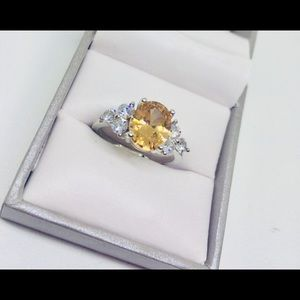 Sterling silver citron ring